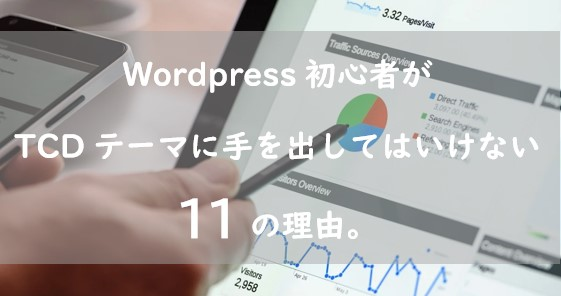 WordPress初心者がTCDテーマに手を出してはいけない11の理由